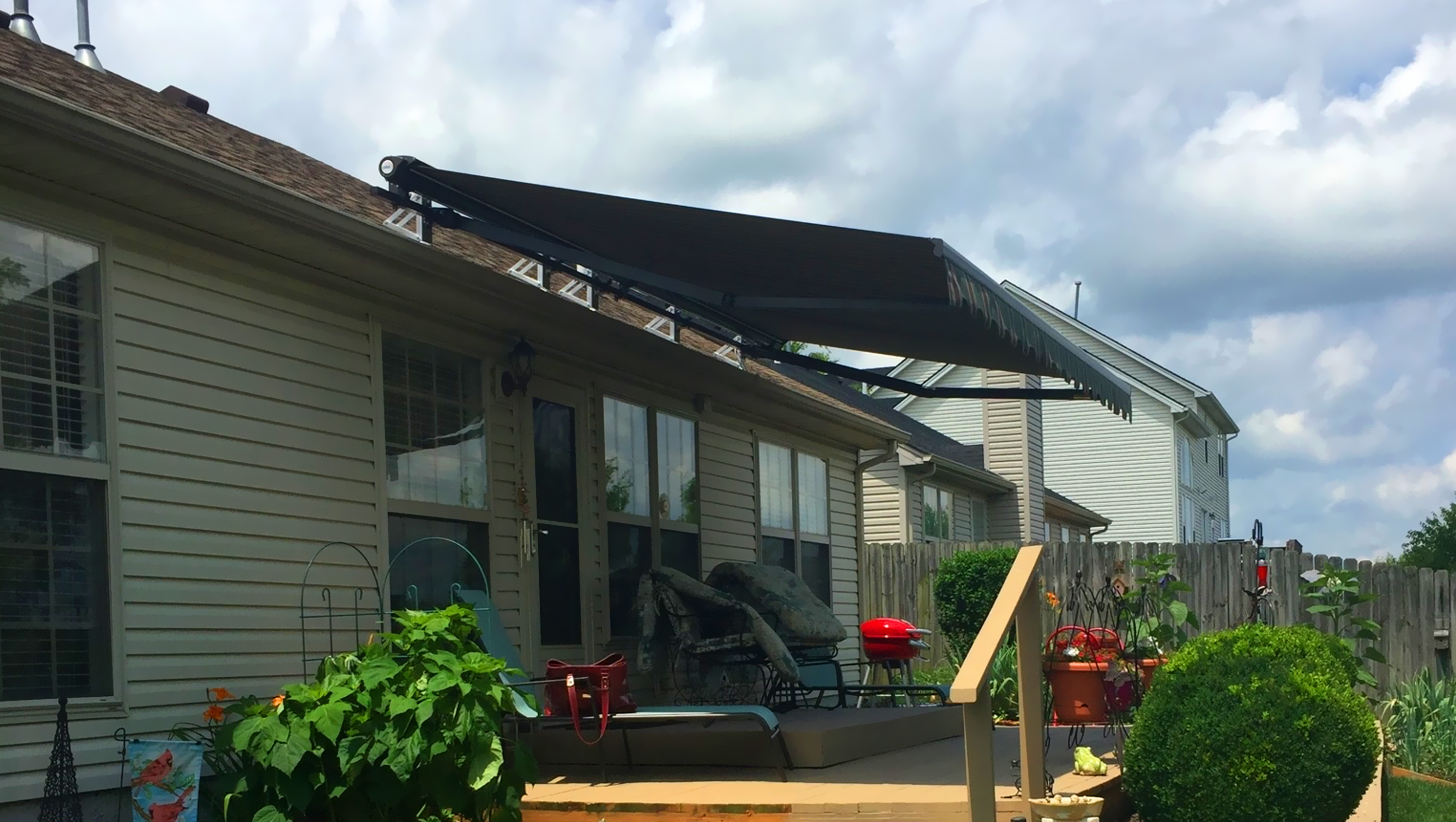 retractable ky awning finish design louisville gray stained quality best pergola g awnings